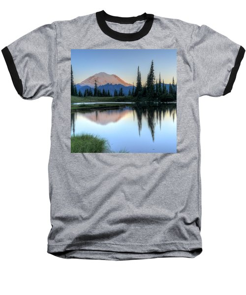 Rainier From Tipsoo Baseball T-Shirt by Peter Mooyman