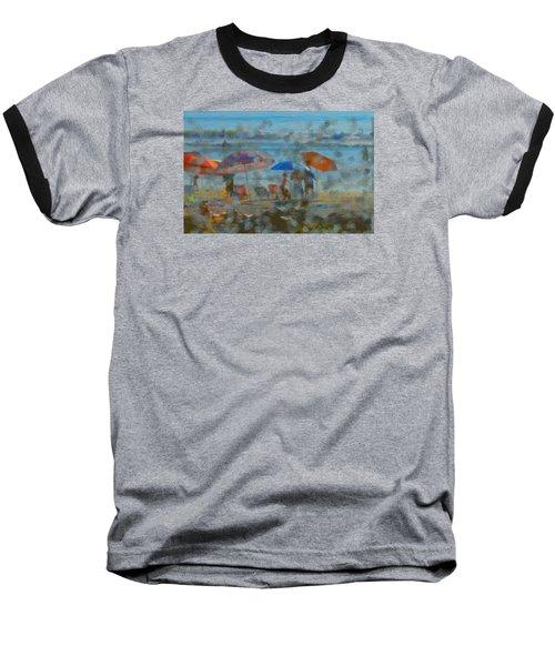 Raining Abstract Baseball T-Shirt