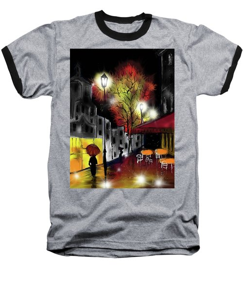 Raining And Color Baseball T-Shirt