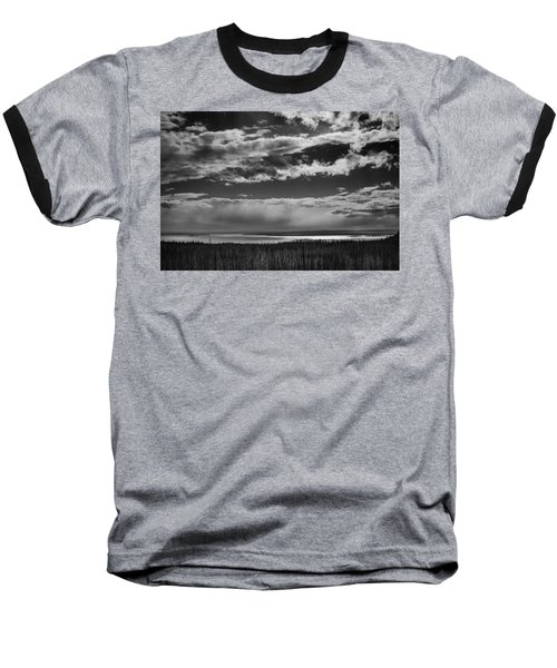 Baseball T-Shirt featuring the photograph Raining At Yellowstone Lake by Jason Moynihan