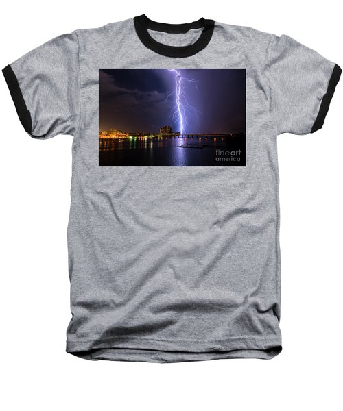 Raining Bolts Baseball T-Shirt