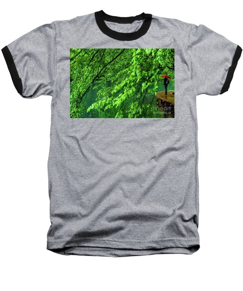 Raining Serenity - Plitvice Lakes National Park, Croatia Baseball T-Shirt
