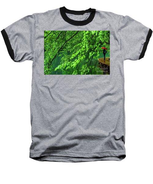 Raining Serenity - Plitvice Lakes National Park, Croatia Baseball T-Shirt