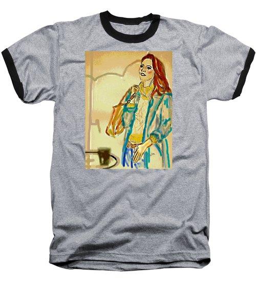 Baseball T-Shirt featuring the digital art Rainny Days And Mondays by Desline Vitto