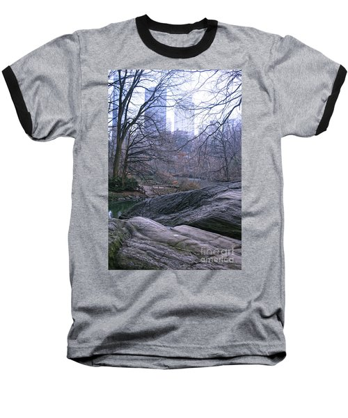 Rainy Day In Central Park Baseball T-Shirt by Sandy Moulder