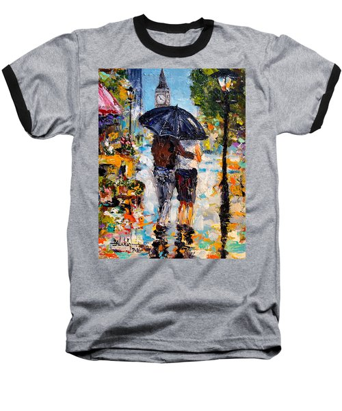 Rainy Day In Olde London Town Baseball T-Shirt