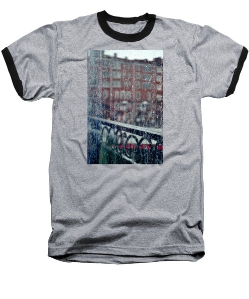 Rainy Day In Portsmouth Baseball T-Shirt by Richard Ortolano