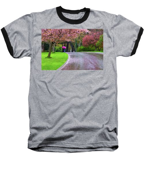 Rainy Day In The Park Baseball T-Shirt by Keith Boone
