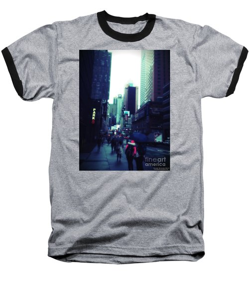Rainy Day New York City Baseball T-Shirt