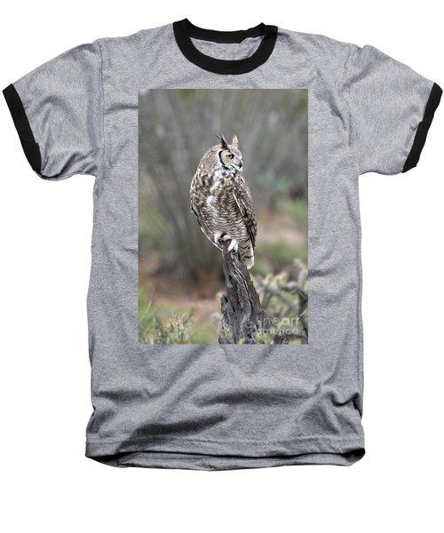 Rainy Day Owl Baseball T-Shirt