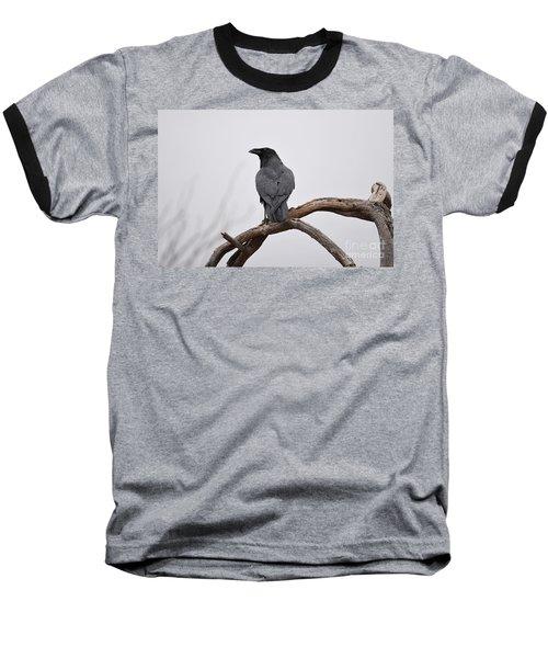 Rainy Day Raven Baseball T-Shirt