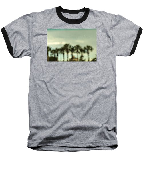 Rainy Daze Baseball T-Shirt by Christopher L Thomley