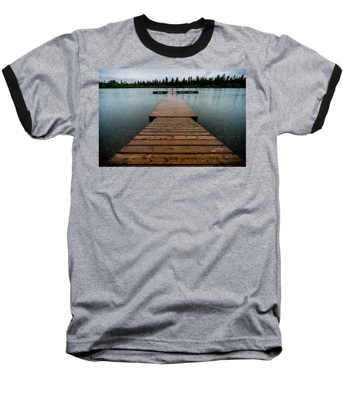 Baseball T-Shirt featuring the photograph Rainy Dock by Darcy Michaelchuk
