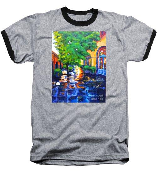 Rainy Dutch Alley Baseball T-Shirt
