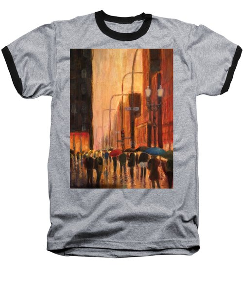 Rainy Evening Chicago Baseball T-Shirt