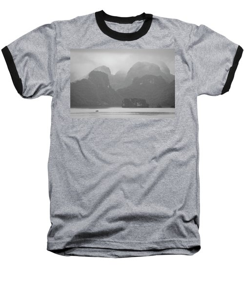 Rainy Ha Long Bay, Ha Long, 2014 Baseball T-Shirt by Hitendra SINKAR