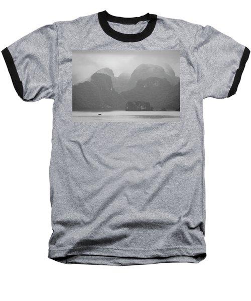 Baseball T-Shirt featuring the photograph Rainy Ha Long Bay, Ha Long, 2014 by Hitendra SINKAR