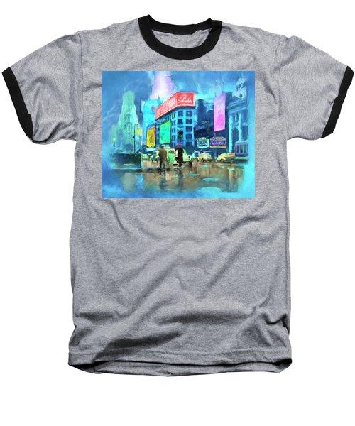 Rainy Night In New York Baseball T-Shirt