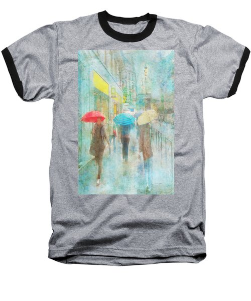 Rainy In Paris 5 Baseball T-Shirt