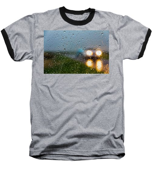 Rainy Ride Baseball T-Shirt