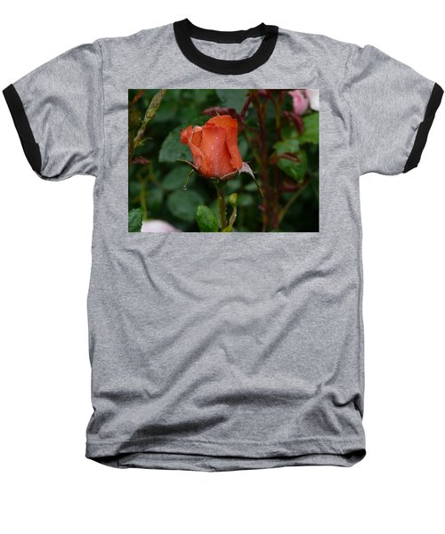 Rainy Rose Bud Baseball T-Shirt