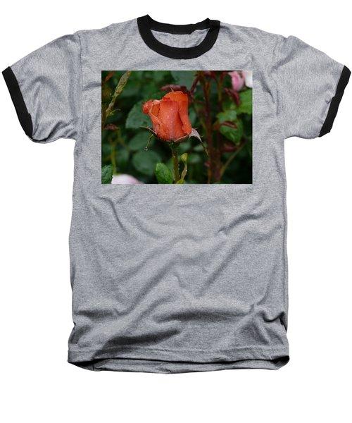 Rainy Rose Bud Baseball T-Shirt
