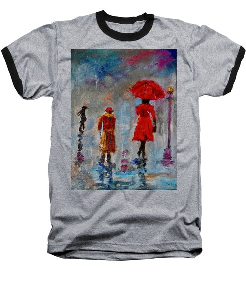 Rainy Spring Day Baseball T-Shirt by Sher Nasser