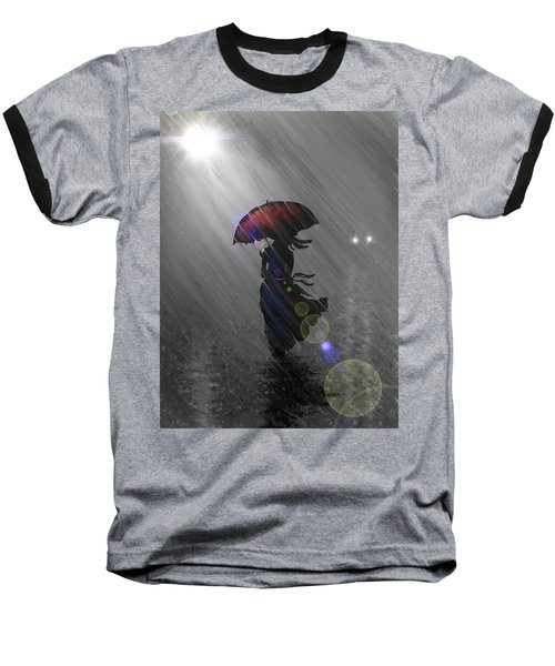 Rainy Walk Baseball T-Shirt