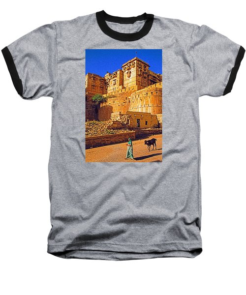 Baseball T-Shirt featuring the photograph Rajasthan Fort by Dennis Cox WorldViews