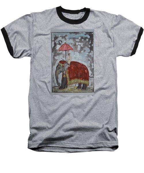 Rajasthani Elephant Baseball T-Shirt