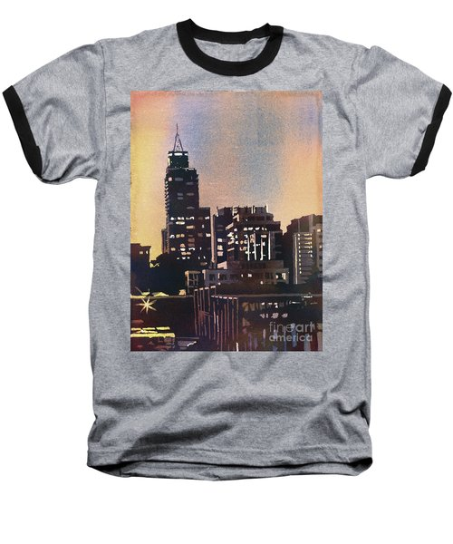 Raleigh Skyscrapers Baseball T-Shirt by Ryan Fox