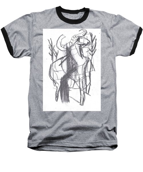 Ram In A Forest Baseball T-Shirt