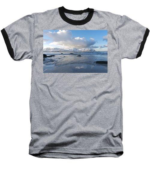 Ramberg Beach, Lofoten Nordland Baseball T-Shirt by Dubi Roman