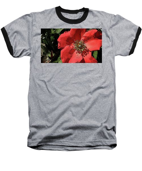 Baseball T-Shirt featuring the photograph Rambling Rose by Donna G Smith