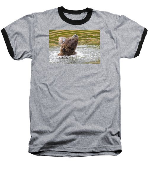Rambo Bear Baseball T-Shirt by Harold Piskiel