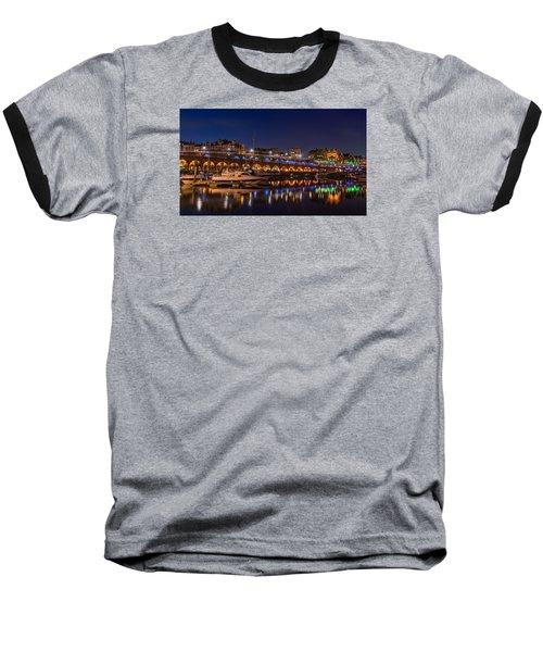 Ramsgate Marina At Night Baseball T-Shirt