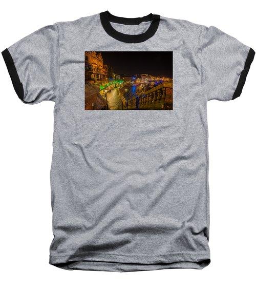 Ramsgate West Cliff Arcade Restaurants At Night  Baseball T-Shirt