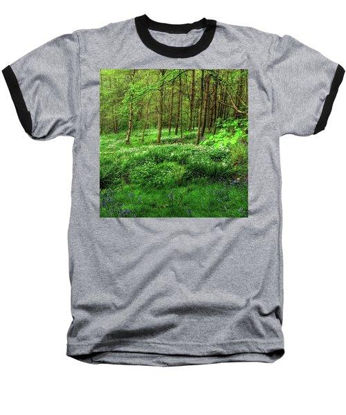Ramsons And Bluebells, Bentley Woods Baseball T-Shirt