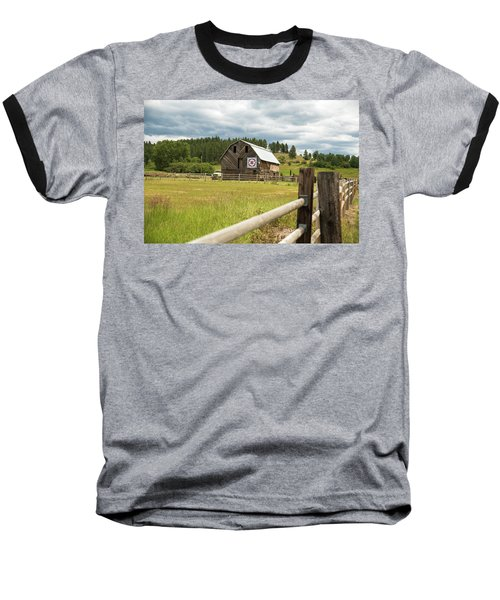 Ranch Fence And Barn With Hex Sign Baseball T-Shirt