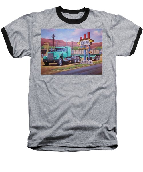 Ranch House Truckstop. Baseball T-Shirt by Mike Jeffries