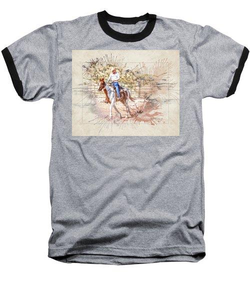 Ranch Rider Digital Art-b1 Baseball T-Shirt