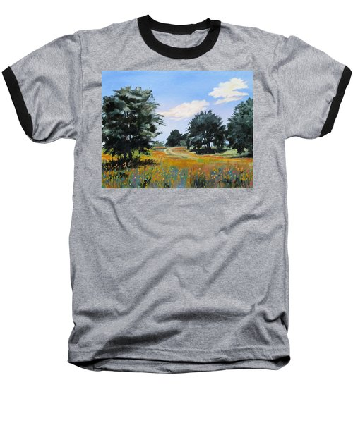 Ranch Road Near Bandera Texas Baseball T-Shirt
