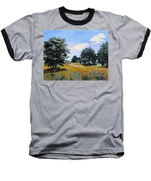 Ranch Road Near Bandera Texas Baseball T-Shirt