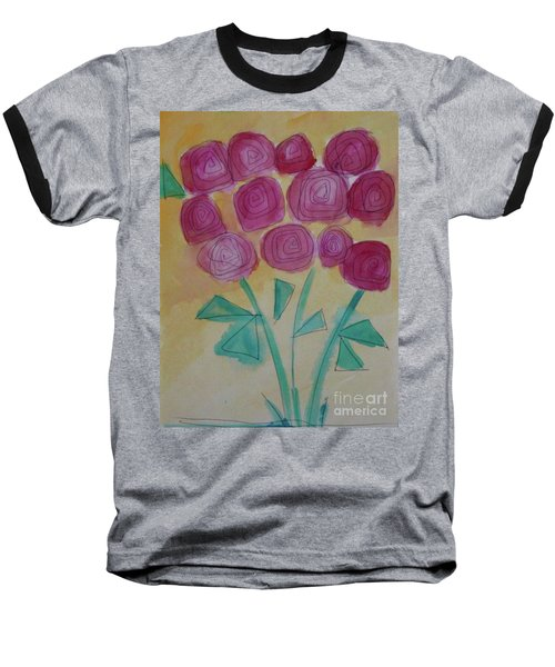 Baseball T-Shirt featuring the painting Randi's Roses by Kim Nelson