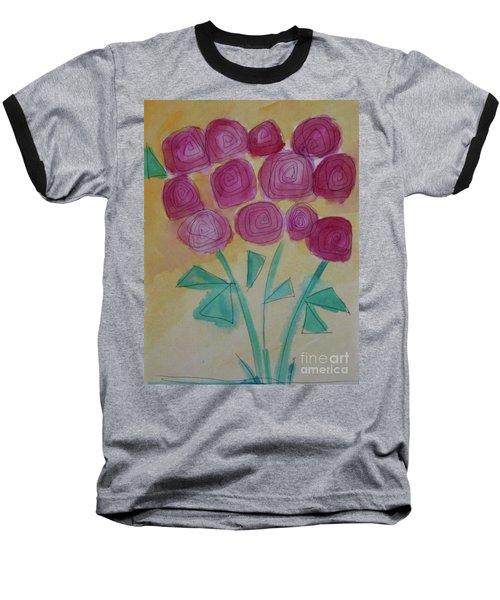 Randi's Roses Baseball T-Shirt by Kim Nelson