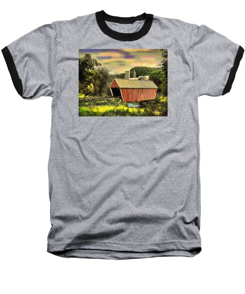 Randolf Covered Bridge Baseball T-Shirt by John Selmer Sr