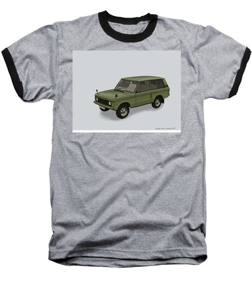 Baseball T-Shirt featuring the mixed media Range Rover Classical 1970 by TortureLord Art