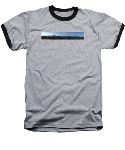 Rangeley Lake Sunset Panoramic Baseball T-Shirt