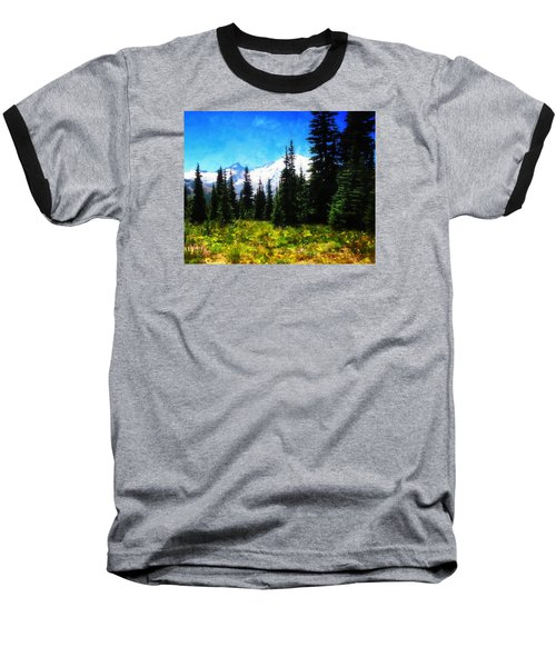 Ranier Mountain Meadow Baseball T-Shirt