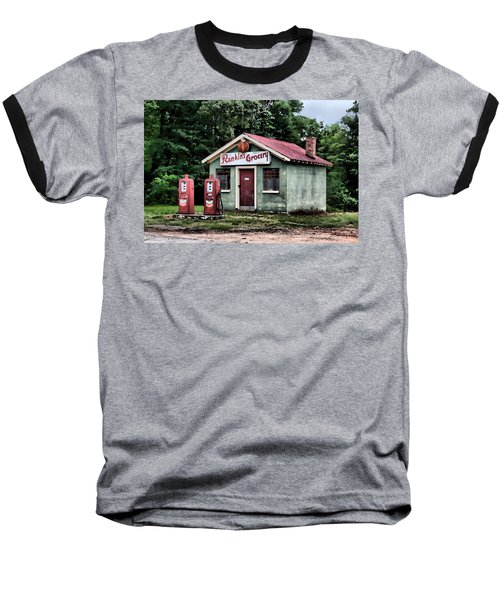 Rankins Grocery In Watercolor Baseball T-Shirt